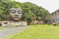 Nanjing industrial park 1865 bronze statue Royalty Free Stock Photography