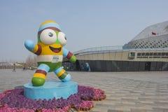 Nanjing-Jugend Olympische Spiele mascots le le Lizenzfreie Stockbilder
