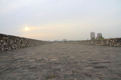 Nanjing Ming City Wall on sunset Royalty Free Stock Images