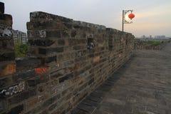 Nanjing Ming City Wall on sunset Royalty Free Stock Photo