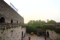 Nanjing Ming City Wall on sunset Royalty Free Stock Photography