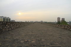 Nanjing Ming City Wall on sunset Royalty Free Stock Photos