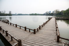 Nanjing Mochou Lake Park scencery Royalty Free Stock Images