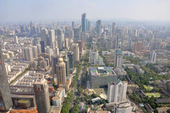 Nanjing Modern Skyline, China Royalty Free Stock Photo