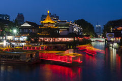 Nanjing night scene Stock Photo