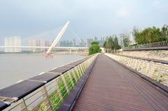 Nanjing oka mosta spacer Fotografia Stock