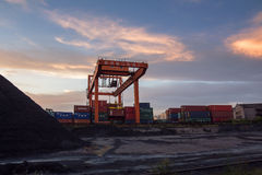 Nanjing Port coal field Royalty Free Stock Image