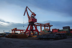 Nanjing Port Royal mechanical loading Royalty Free Stock Image