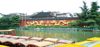 Nanjing Qinhuai River boat dock Royalty Free Stock Photography