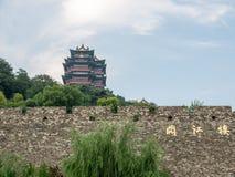Nanjing River viewing towers. Ying Zhu, the river viewing towers and green tiles, cornices cliffs, curtain Feng Fei, Fei LEUNG Wai Choi Ying Zhu, has a distinct Stock Images