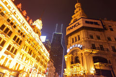 Nanjing Road at night Stock Image