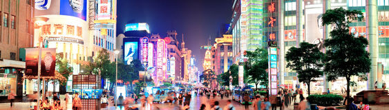 Nanjing Road in Shanghai Royalty Free Stock Photos