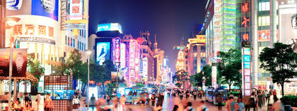 Nanjing Road in Shanghai Stock Photography
