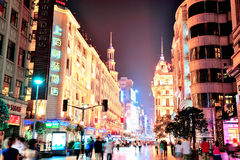Nanjing Road in Shanghai Royalty Free Stock Images