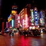 Nanjing road, Shanghai, China 5 Royalty Free Stock Photos