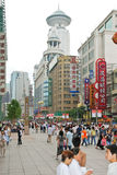 Nanjing Road - shopping street of Shanghai, China Royalty Free Stock Photo