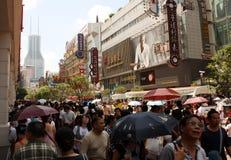 Nanjing Road street, Shanghai Royalty Free Stock Image