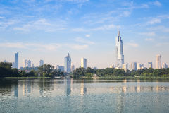 Nanjing-Skyline Stockbild