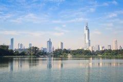 Nanjing skyline Stock Image