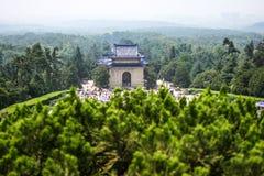 Nanjing Sun Yat-sen Mausoleum. Park in holiday Stock Image