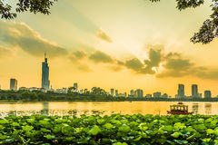 Nanjing sunset Stock Photography