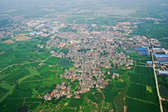 Nanjing village aerial Stock Photo