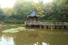 Nanjing Xixia mountain and temple in Autumn Royalty Free Stock Photography