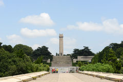 The Nanjing Yuhuatai monument Stock Image