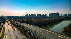 Nanjing Zhonghua Gate sunny tower Stock Photo
