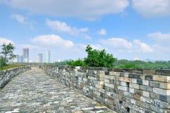 Nanjings ming grote muur Stock Afbeeldingen