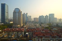 Nanjingscityscape, China stock fotografie
