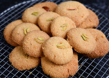 Nankhatai-indische Keksplätzchen Stockfotos