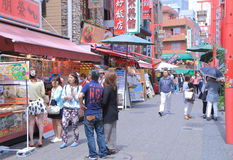 Nankin Chinatown in Kobe Japan  Royalty Free Stock Images