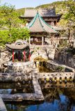 Nanlao Spring- one of three most famous views in Jinci museum Stock Image