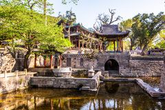 Nanlao Spring- one of three most famous views in Jinci museum Royalty Free Stock Images