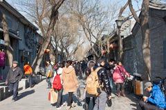 Nanluogu Weg von Peking Stockfotografie
