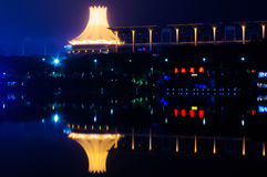 Nanning CBD night scene. Nanning is the capital city of Guangxi province in China Royalty Free Stock Photo