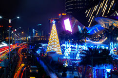 Nanning CBD night scene. Nanning is the capital city of Guangxi province in China Stock Photo