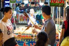 NANNING, CHINA - JUNE 9, 2017: Nanning Zhongshan Snack Street wi Royalty Free Stock Image