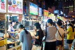 NANNING, CHINA - JUNE 9, 2017: Nanning Zhongshan Snack Street wi Royalty Free Stock Photo