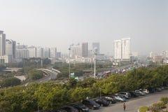 Nanning, China-Nov.9, 2016: City view from China-ASEAN EXPO of t Royalty Free Stock Image
