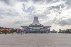 Nanning China-Nov 9 2016: EXPO KINA-ASEAN av huvudstaden av t Royaltyfri Fotografi