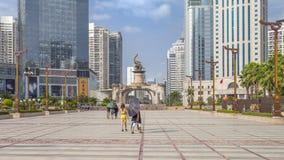 Nanning China-Nov 9 2016: Wuxiang fyrkant i huvudstaden av Arkivbild