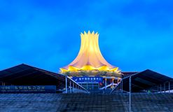 Nanning Convention and Exhibition Center. NANNING, CHINA - APRIL 25, 2018: Guangxi International Convention and Exhibition Center in Nanning, Guangxi capital royalty free stock images
