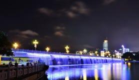 Nanning Nanhu Bridge night Royalty Free Stock Photography