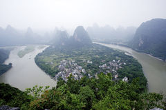 Nanning top view of the scenery Royalty Free Stock Image