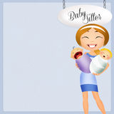 Nanny with baby Royalty Free Stock Photography