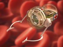 Nano анти--заболевание робота Стоковые Фотографии RF