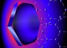 Nano фон Nano решетка удлиняет к центральному узлу иллюстрация вектора