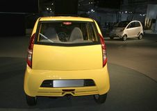 Nano at Auto expo in Delhi,. New Tata Car Nano at Auto expo in Delhi, India Royalty Free Stock Photography